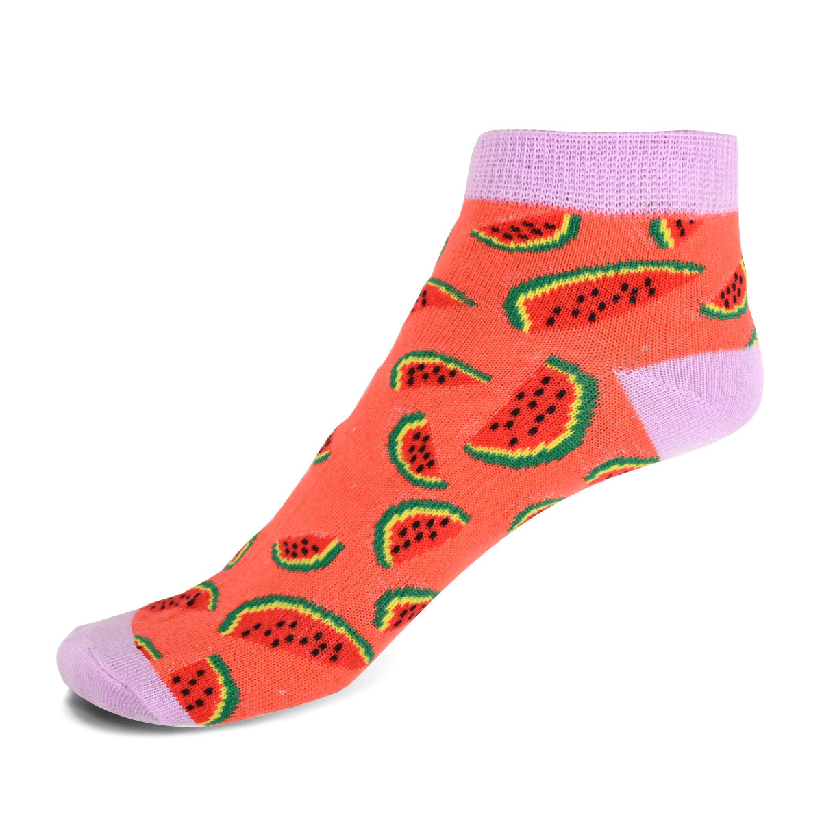 Assorted Pack (6 pairs) Women's Watermelon Novelty Low Cut Socks EBA-679
