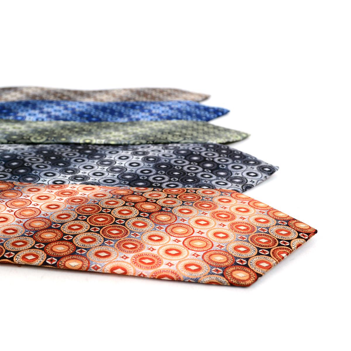 Geometric Ellipses Microfiber Poly Woven Tie - MPW5927