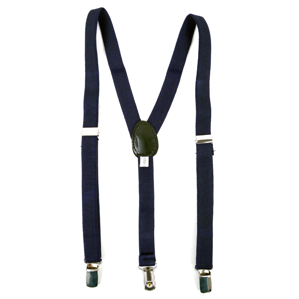 Boy's Navy Clip-on Suspender & Dotted Matching Bow Tie Set(4~7 Years)