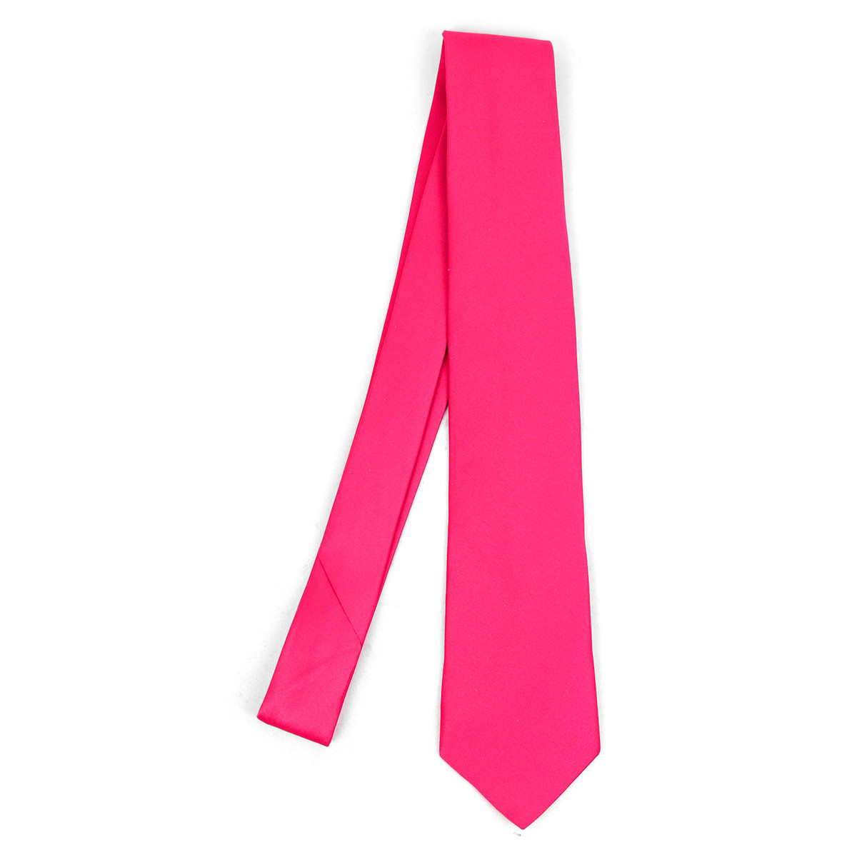 Men's Poly Solid Satin Tie with Paper Band - PSBD