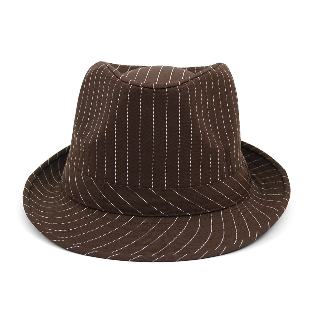 ... Spring Summer Poly Cotton Striped Trilby Fedora Hats H10333 ... 2ea06d178ac7