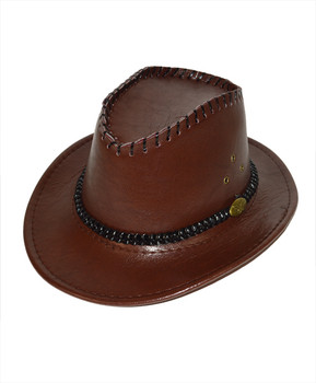 "6pc 2.5"" Brim Cowboy Hat H9348"