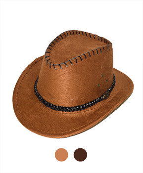"6pc 2.5"" Brim Cowboy Hat H9352"