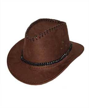 "6pc Pack 2.5"" Brim Cowboy Hat H9352"