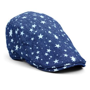Spring/Summer Denim Star Print Casual Ivy Hat - ISS1814