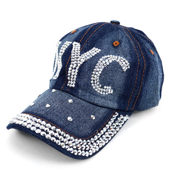 "Bling Studs Cap, Hat ""NYC"" CP9591"