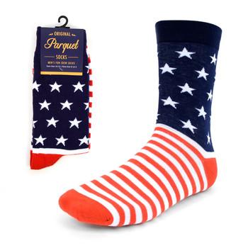 Men's American Flag Novelty Socks - NVS1816