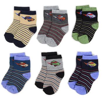 24 Pairs Assorted Infant Boy's Striped Pattern Socks 0-3 Yrs - 12PKS-IFS2-03