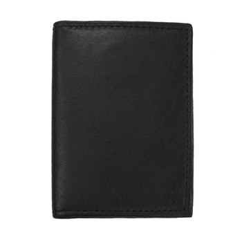Leather Card & ID Holder 2CC BLK
