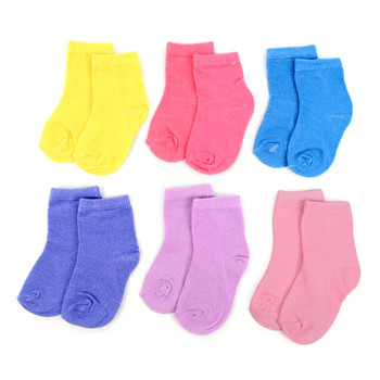 24 Pairs Assorted Solid Color  Infant Socks 0-3 Yrs - GSS12ASST03