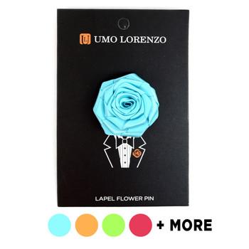 Men's Solid Flower Boutonniere Clutch Back Lapel Pins - FLP1801