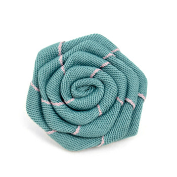 Men's Fabric Flower Boutonniere Clutch Back Lapel Pins - FLP1803