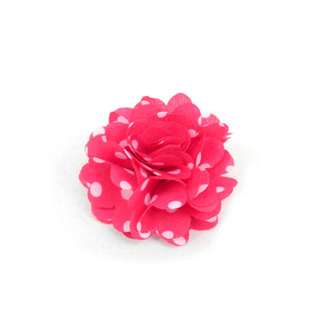 Men's Polka Dot Flower Boutonniere Clutch Back Lapel Pins - FLP1804