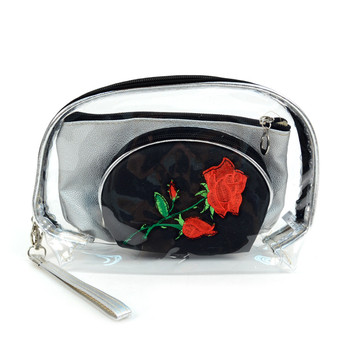 Ladies Flower Makeup Bag 3pc Set Cosmetic & Toiletry Bags - LNCTB1713