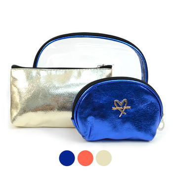 Ladies  Makeup Bag 3pc Set Cosmetic & Toiletry Bags - LNCTB1714