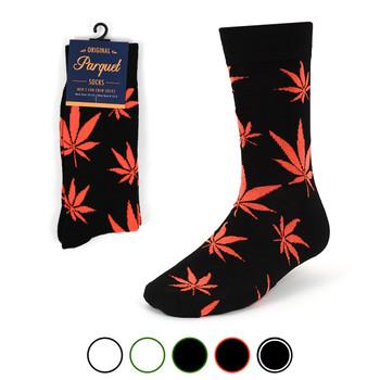 Weed Leaf Marijuana Novelty Crew Socks - NVS1802-04