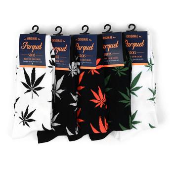 Marijuana Leaf Cannabis Novelty Crew Socks - NVS1802-04