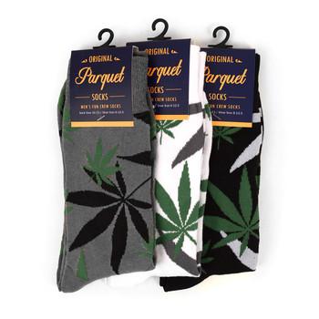 Marijuana Leaf Cannabis Novelty Crew Socks - NVS1801-05