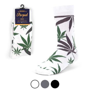 Weed Leaf Marijuana Novelty Crew Socks - NVS1801-05