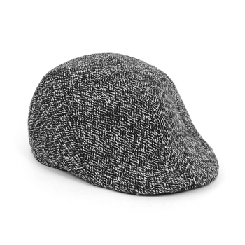 Fall/Winter Black & White Weave Pattern Ivy Hat - H1805050