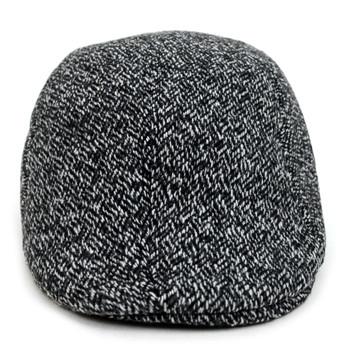 Fall/Winter Black & White Weave Pattern Ivy Hat - H1805050