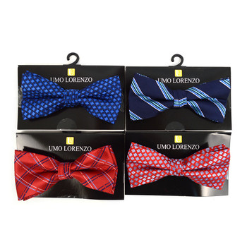 12pc Assorted Men's Pattern Bow Ties - FBB12-ASST