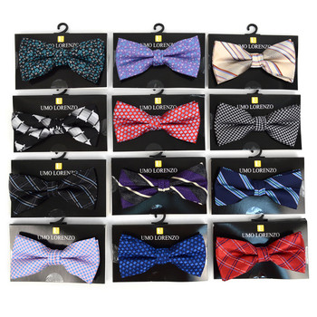 12pc Assorted Men's Pattern Banded Bow Ties - FBB12-ASST