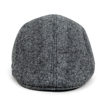 Fall/Winter Charcoal Chevron Pattern Ivy Hat - H1805005