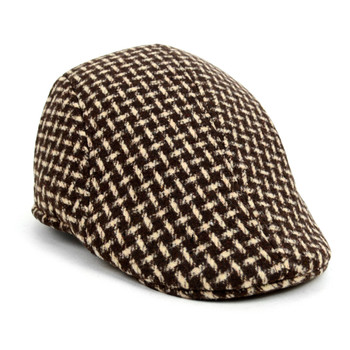 Fall/Winter Brown Weave Pattern Ivy Hat - H1805014