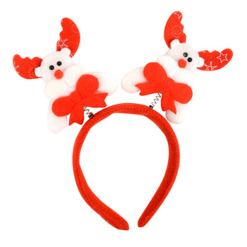 Christmas & Holiday White Reindeer Head Band - XWDC5110-H