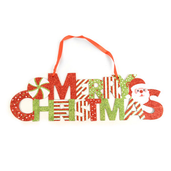 Merry Christmas Glitter Wall Hanging Indoor Sign - XWDC5303