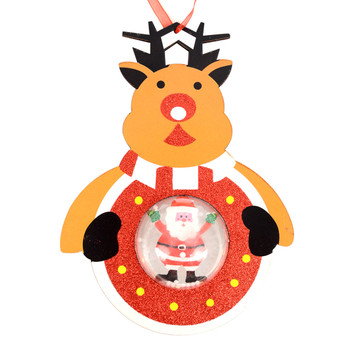 Reindeer with Snow Dome Christmas Ornament- XHDC5196