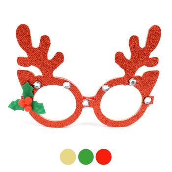 Novelty Glittered Antler Reindeer Frames  Eyeglasses - XAP53104