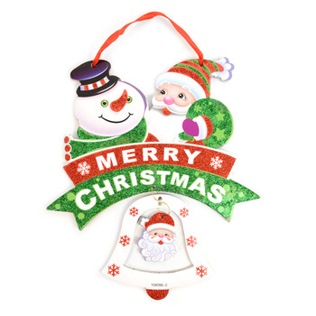 Merry Christmas Glittery Hanging Wall Décor - XHW5141
