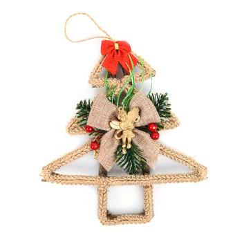 Christmas Tree Shape Twig Rustic Ornament - XMAO5229