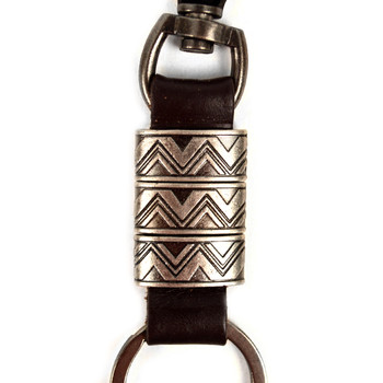 Genuine Leather and Metal Tribal Fancy Keychain - NVK1013