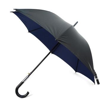 Black and Navy Auto Open Canopy Umbrella -UM18059-BLK