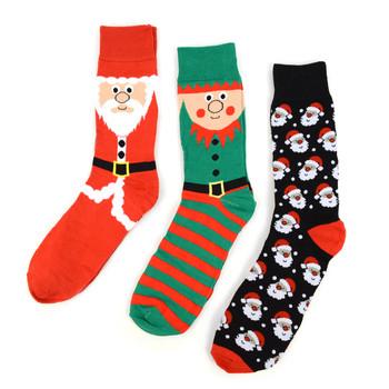 24-Boxes (72pairs) Assorted Men's Christmas Socks Red Gift Box Set (3 pairs per box) - MFS2000