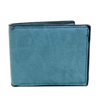 Bi-Fold  Leather Men's Blue Wallet - MLW5192-BL