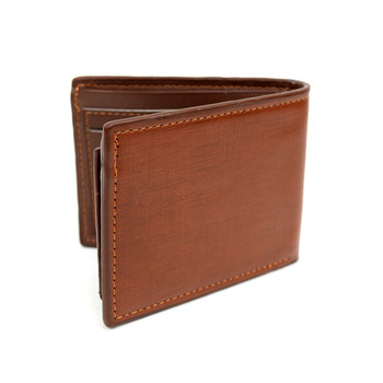 Bi-Fold Leather Men's Brown Wallet - MLW5195-BR