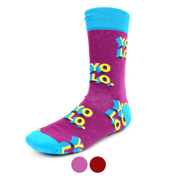 "Men's ""YOLO""Novelty Socks - NVS1905"