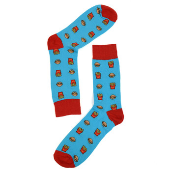 Men's Hamburger & French Fries Novelty Socks - NVS19277