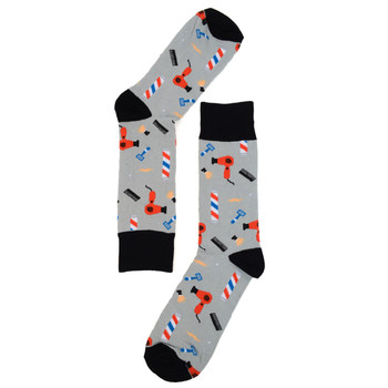 Men's Barber Shop Novelty Socks - NVS19211