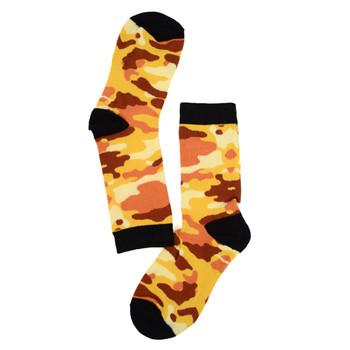 Women's Color Camouflage Novelty Socks - LNVS19288-Orange