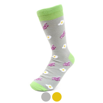 Women's Bacon & Eggs Novelty Socks - LNVS19266