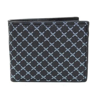 Bi-Fold Patterned Leather Men's Wallet - MLW5199-BK