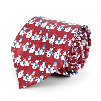 Men's Poly Woven Jacquard Christmas Neckties - XMT1803