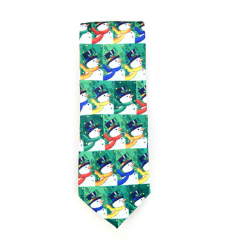 Men's Poly Woven Jacquard Christmas Neckties - XMT1804