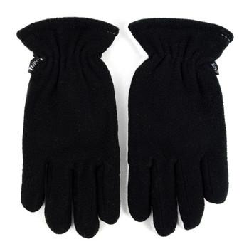 12pc Women's Fleece Winter Black Gloves - ZM5