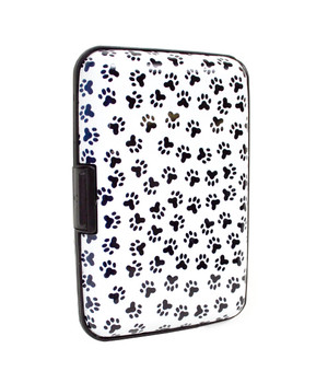 Card Guard Aluminum Compact Card Holder CASE027 (Animal Paws)